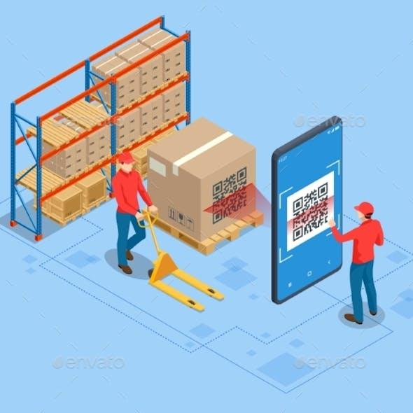 Isometric Smart Warehouse Management System