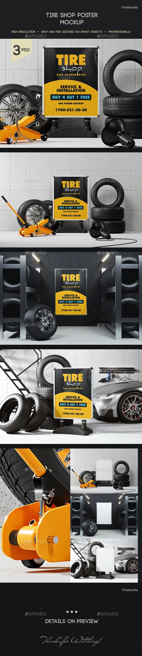 Tire Shop Poster Mockup - Posters Print