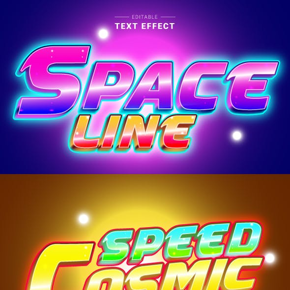 """Editable """"Game Logo 3D Text Effects"""" for Illustrator."""