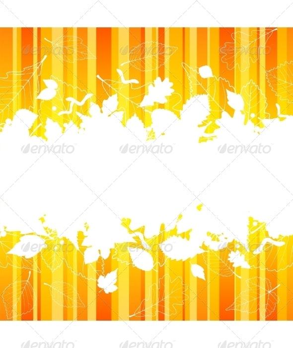 Vector autumn frame with fall leaf - Seasons/Holidays Conceptual
