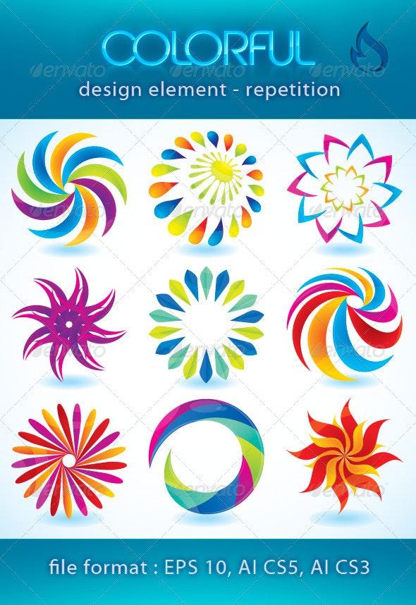 Colorful design element (repetition) - Miscellaneous Vectors