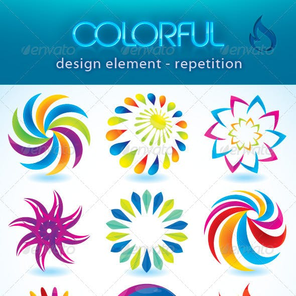 Colorful design element (repetition)