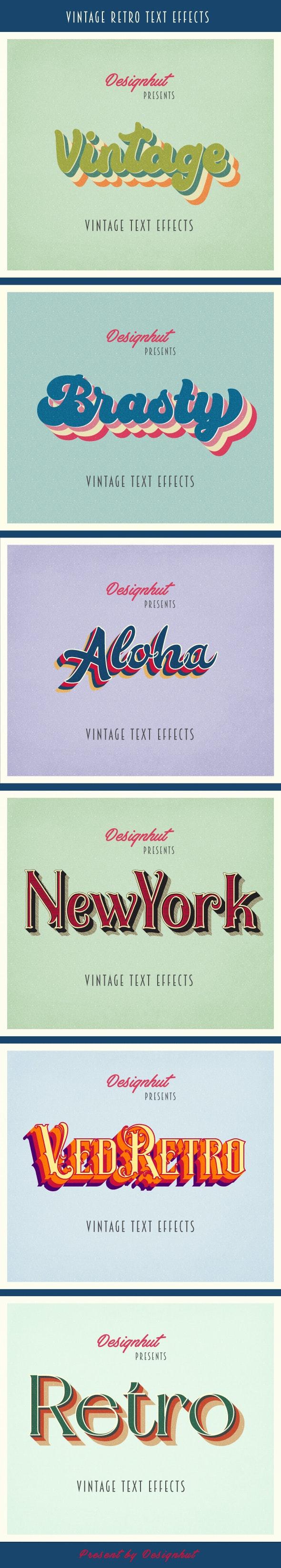 Vintage Retro Text effects - Styles Illustrator