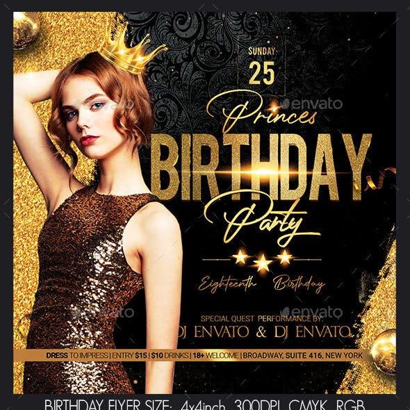 Birthday Flyer
