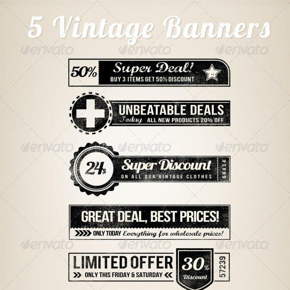 5 Vintage Retro Banners