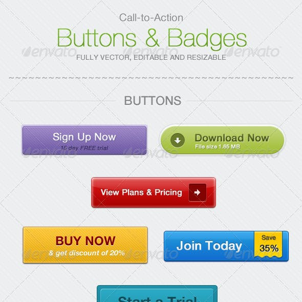 Call-To-Action Buttons & Badges