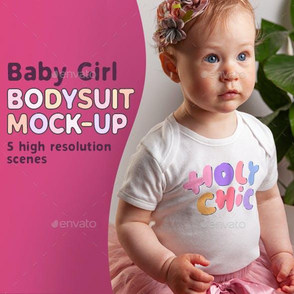 Baby Girl Bodysuit Mock-up