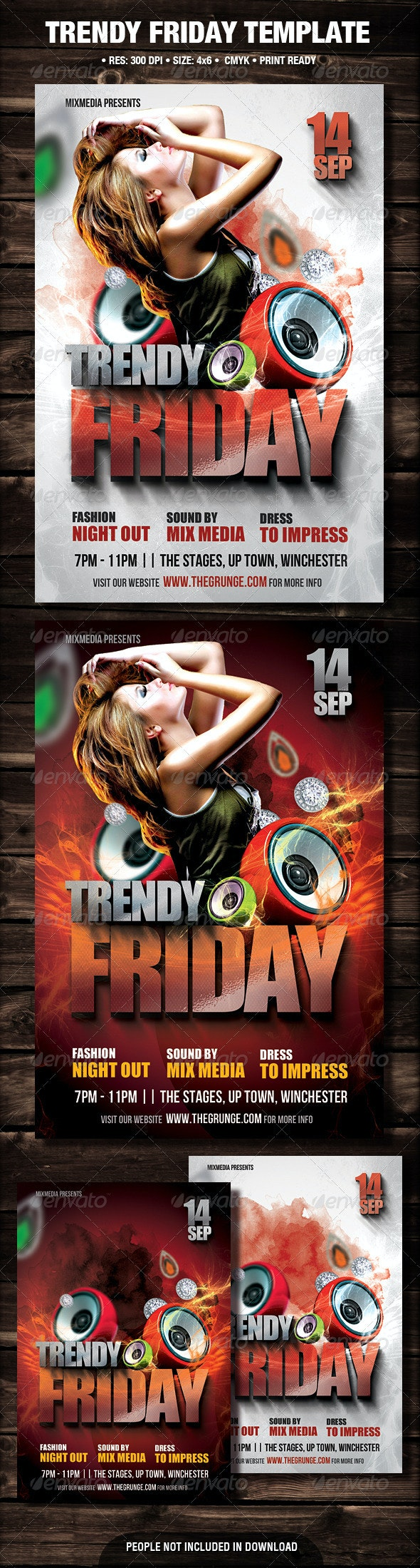 Trendy Friday Flyer - Clubs & Parties Events