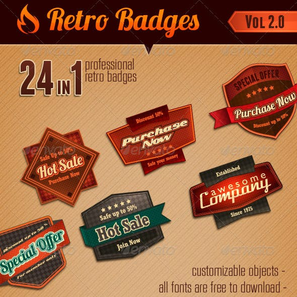 Retro Badges vol 2