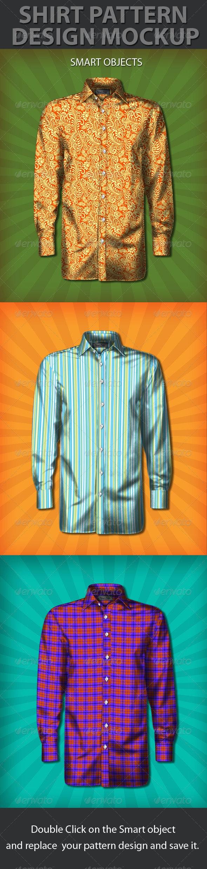 Shirt Pattern Design Mockup - T-shirts Apparel