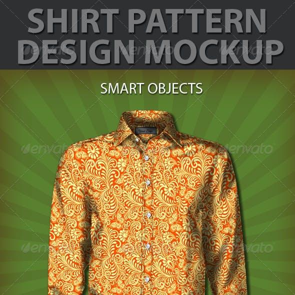 Shirt Pattern Design Mockup