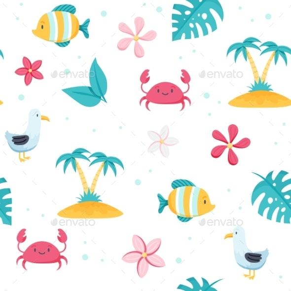 Summer Sea Pattern - Miscellaneous Illustrations