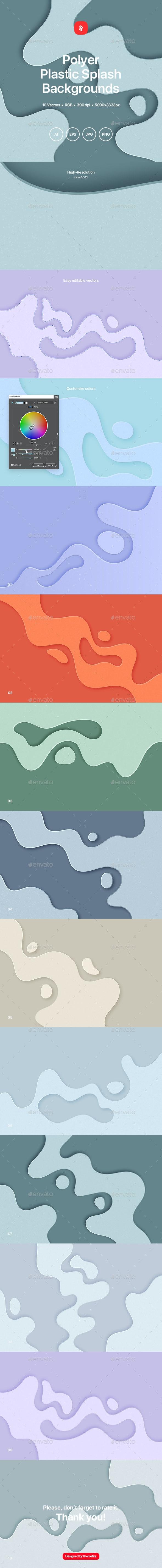 Polyer - Plastic Splash Background - Backgrounds Graphics