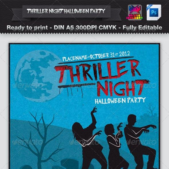 Thriller Night Halloween Party Flyer