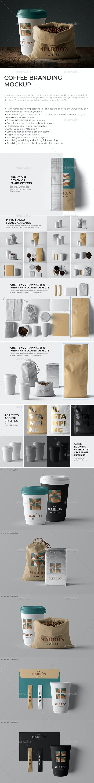 Coffee Branding Stationary Mockup - Food and Drink Packaging