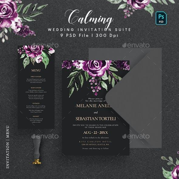 Calming Wedding Invitation Suite