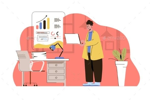 Business Strategy Web Concept - Business Conceptual