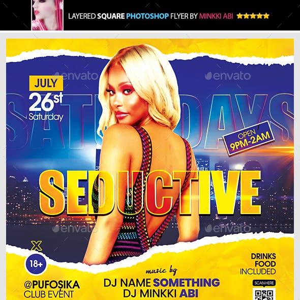 Seductive Saturdays Flyer