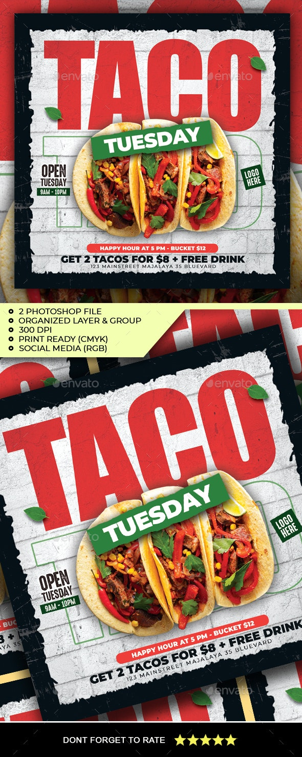 Taco Tuesday Flyer - Restaurant Flyers