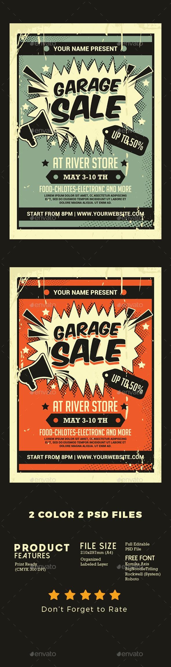 Garage Sale Flyer - Events Flyers