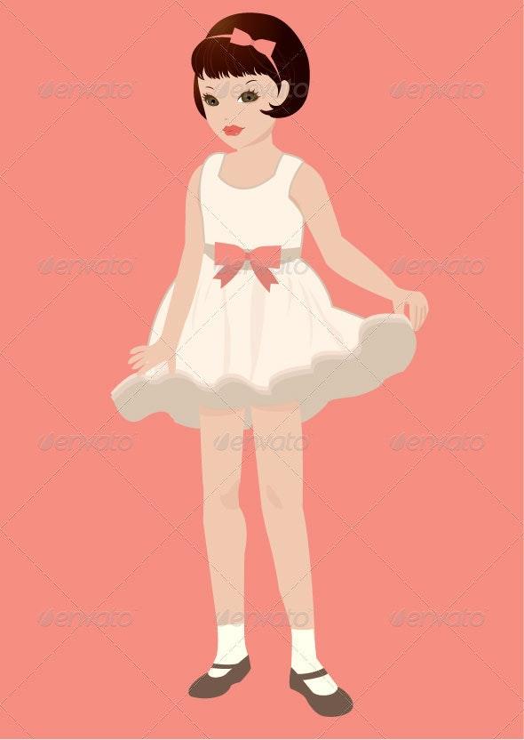Vintage Little Girl - People Characters
