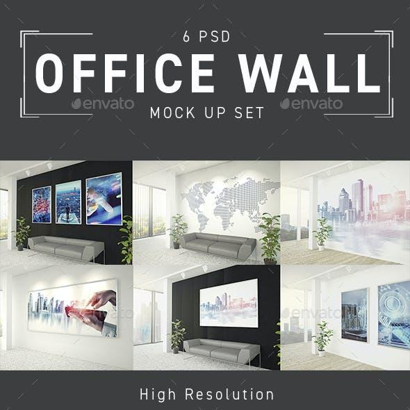 Office Wall Decoration Mockup Set