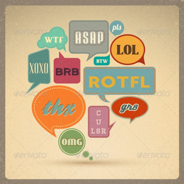 Retro Speech bubbles.  - Retro Technology