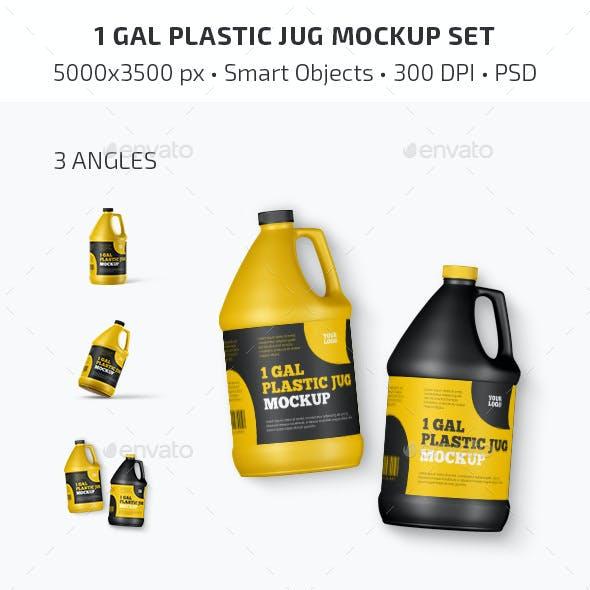 1 Gal Plastic Jug Mockup Set