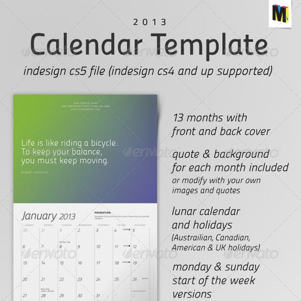 Calendar Templates Designs From Graphicriver