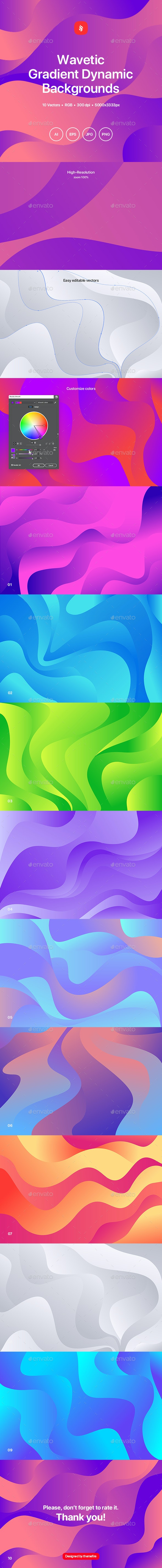 Wavetic - Abstract Gradient Dynamic Backgrounds - Abstract Backgrounds