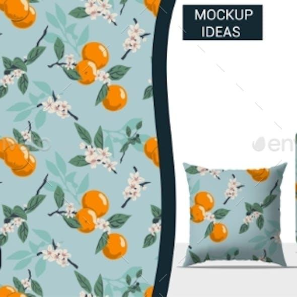 Orange Texture And Fabric Seamless Pattern