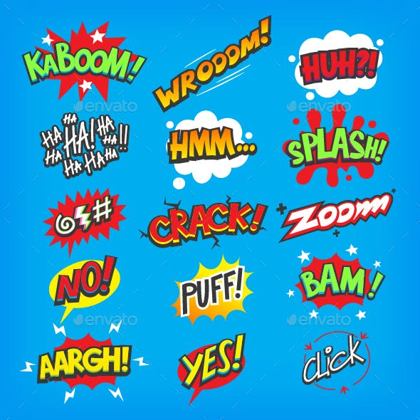 Cartoon Sounds and Exclamations