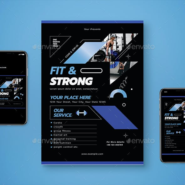 Simple Gym Flyer Set