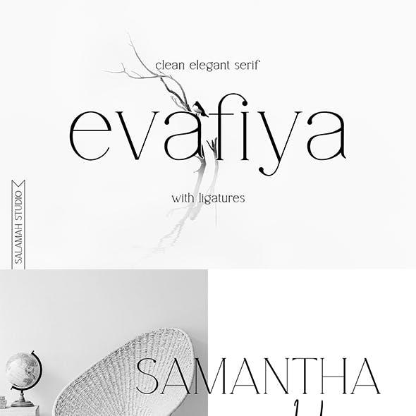 Evafiya - Clean Serif Font