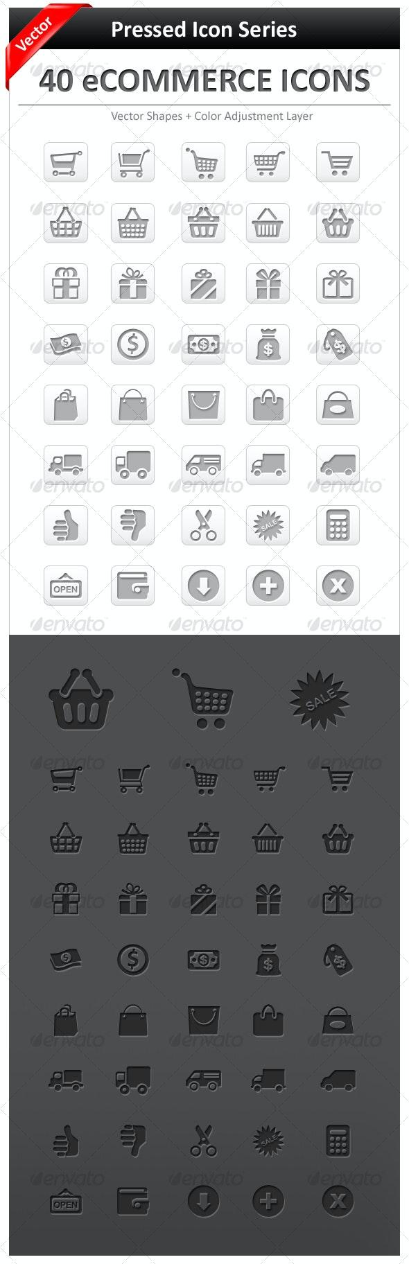 40 e-Commerce Icons - Web Icons