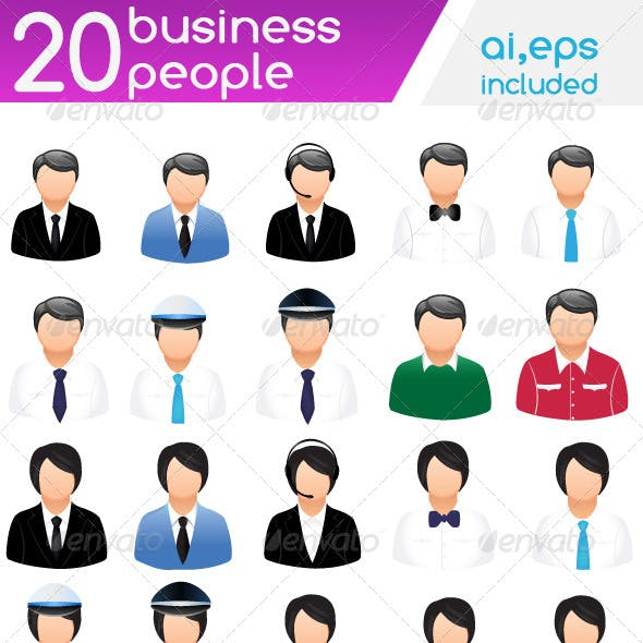 20 professional people icons