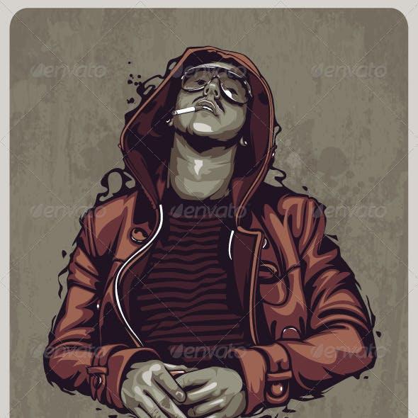 Smoker Grunge Image
