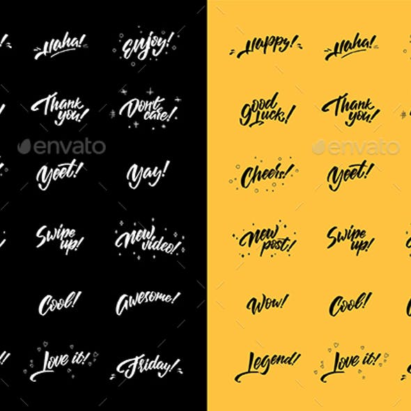 Emotions in lettering