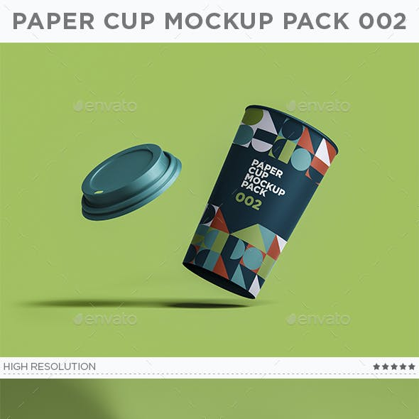 Paper Cup Mockup Pack 002