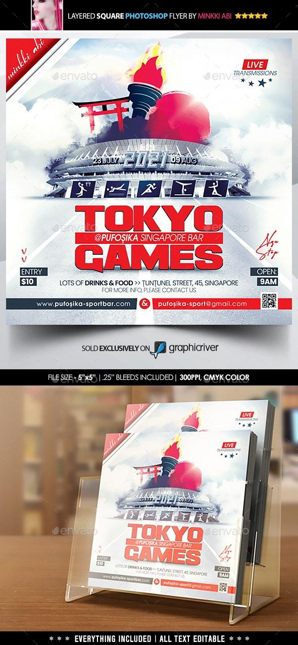 Games Flyer - Flyers Print Templates
