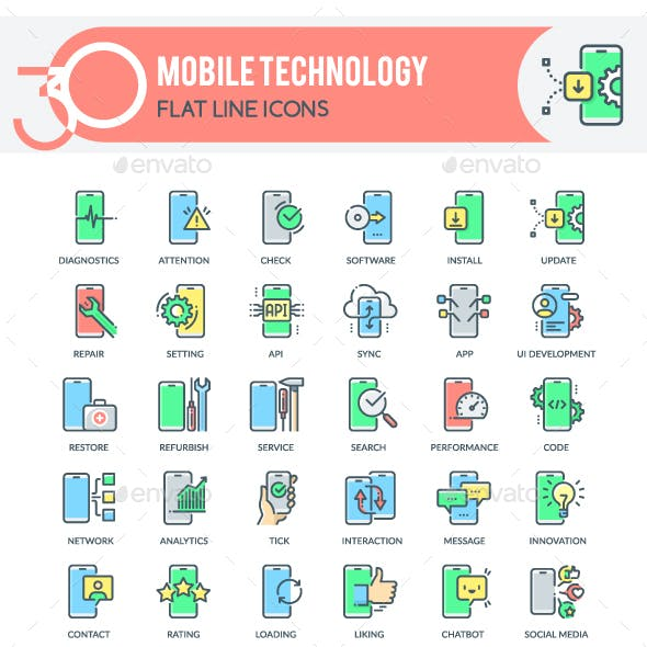 Mobile Technology Icons