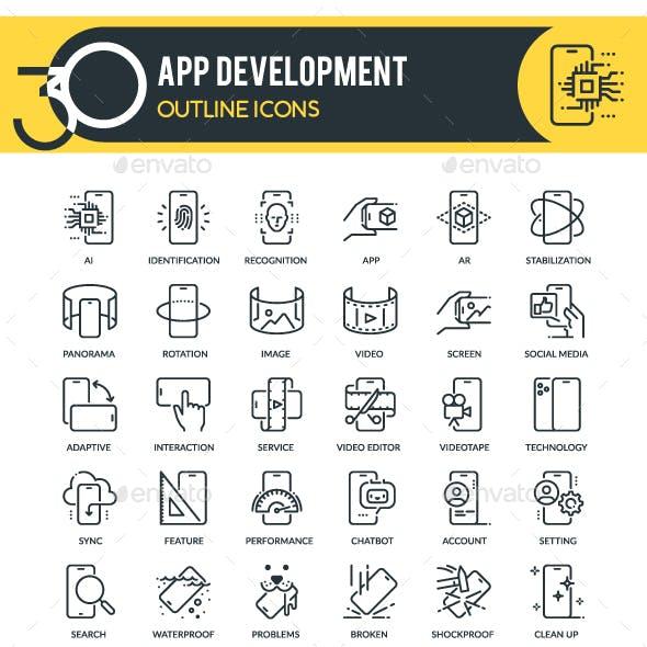 App Development Outline Icons