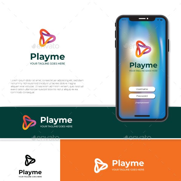 Playme Logo Template