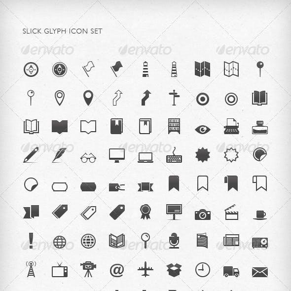 Slick Glyph Icon Set