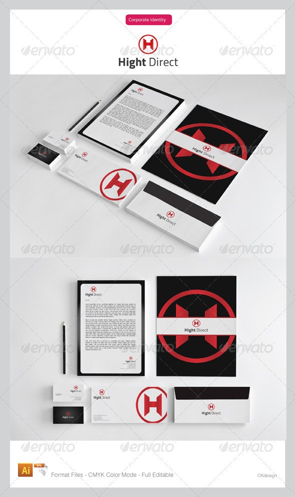 Hight Direct Corporate Identity Package - Stationery Print Templates
