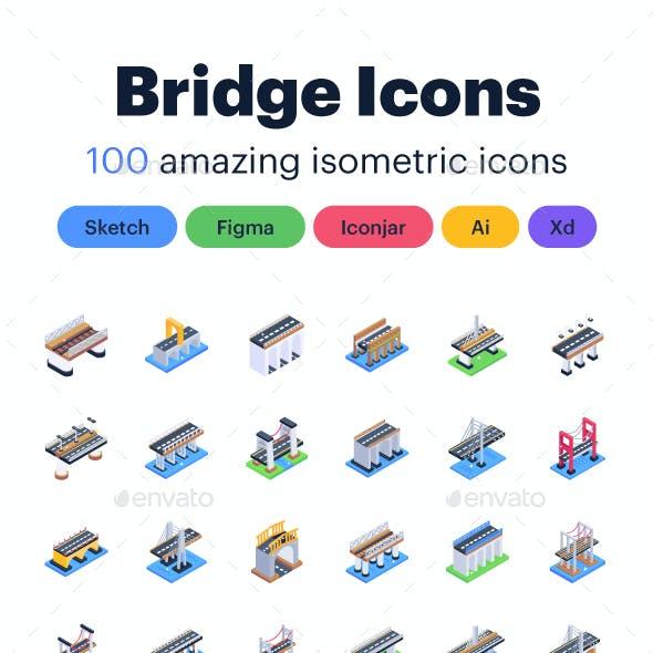 Isometric Bridge Icons