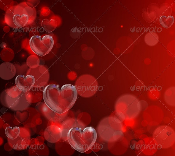 Valentines day heart background - Valentines Seasons/Holidays