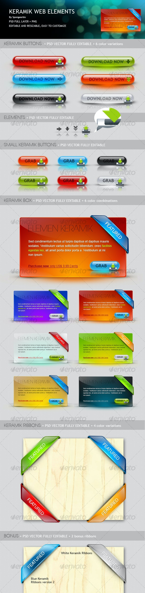 Keramik Web Elements - Web Elements