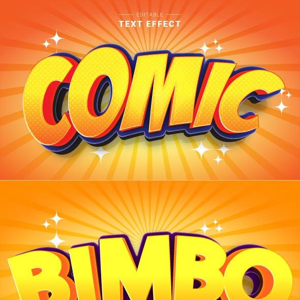 "Editable ""Modern 3D Funny Cartoon Text Effects"" for Illustrator."