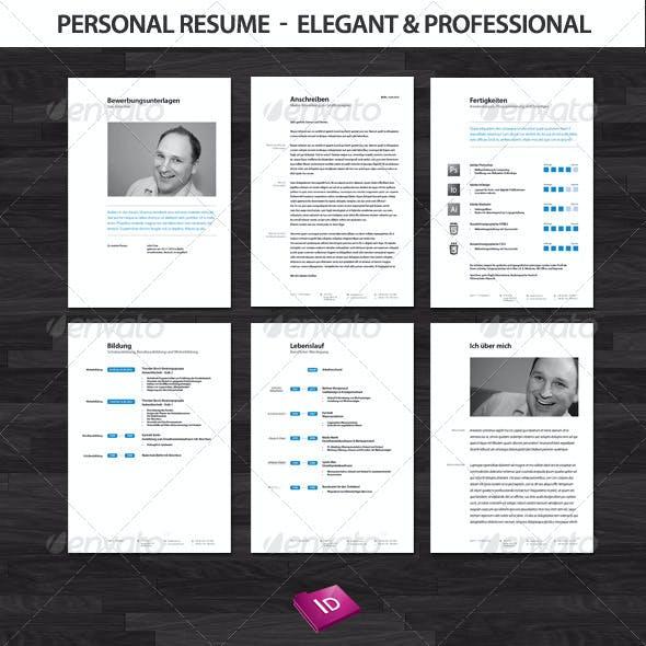 Professional and Elegant Resume Set